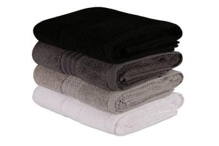 Hobby zestaw ręczników Hand 4 szt. biały/szary/czarny