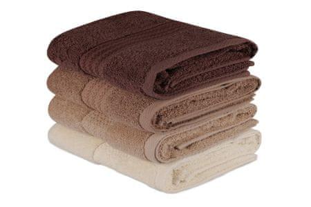 Hand komplet brisač, rjava, 4 kosi