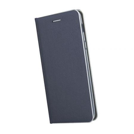 Havana Premium ovitek za Samsung Galaxy A70 A705, preklopni, moder s srebrnim robom