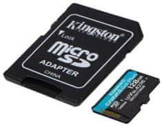Kingston microSDXC 128GB Canvas Go Plus 170R A2 U3 V30 + adaptér (SDCG3/128GB)