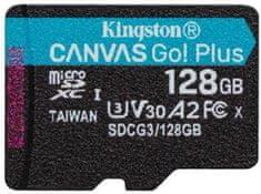 Kingston microSDXC 128GB Canvas Go Plus 170R A2 U3 V30 (SDCG3/128GBSP)