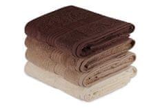 komplet ručnika Bath, 4 komada, smeđa