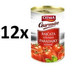 Hamé Paradajky lúpané celé OTMA Gurmán 12x 400 g