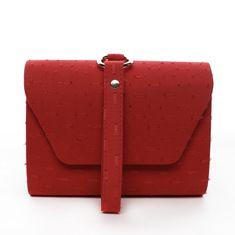 Michelle Moon Zajímavé dámské koženkové psaníčko do ruky Clotilde červená