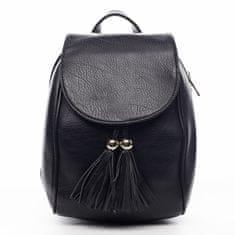 Silvia Rosa Nepřehlédnutelný městský koženkový batůžek Leoncé černá