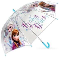"""SETINO Mechanikus esernyő """"Jégvarázs"""" átlátszó - türkiz"""