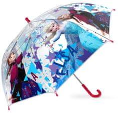 SETINO Dáždnik Frozen transparentný - fialovo bordová