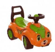 Teddies Odrážedlo auto plast oranžovo-zelené 29x36x62cm v sáčku od 12 do 35 měsíců