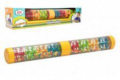 Teddies Kuličkový déšť/chrastítko barevné plast 40cm hlavolam v krabičce 41,5x8,5x8,5cm 12m+