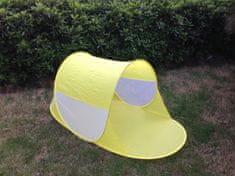 Teddies Stan plážový 140x70x62cm samorozkládací polyester/kov v látkové tašce
