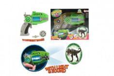 Teddies Pistole projekční dinosaurus plast 16cm na baterie se zvukem a světlem v krabici 24x19x6cm