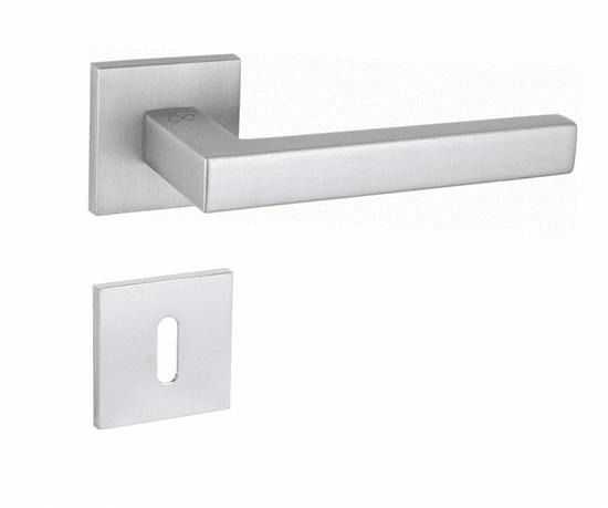 Infinity Line Stella S M700 matný chrom SLIM - kľučka k dverám - s rozetou bb (dózický kľúč)