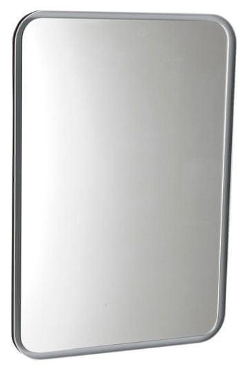 SAPHO FLOAT zaoblené LED podsvícené zrcadlo v rámu 500x700mm, bílá (22571)