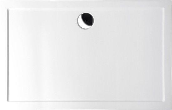 POLYSAN KARIA sprchová vanička z litého mramoru, obdélník 100x80x4cm, bílá (45511)