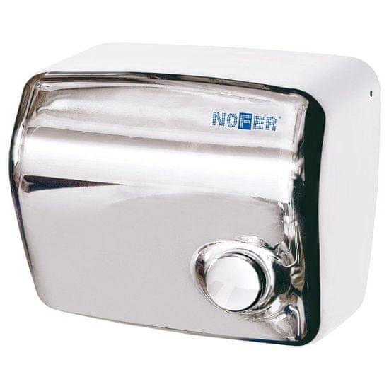 SAPHO Elektrický osoušeč rukou s tlačítkem, 1500 W, nerez (01250.B)