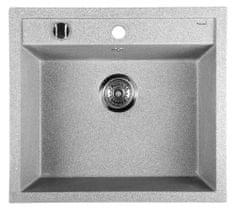 SAPHO Dřez granitový vestavný mono, 57x51 cm, šedá (GR1003)