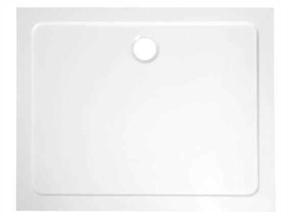 AQUALINE TECMI sprchová vanička z litého mramoru, 100x70x3 cm (PQ10070)