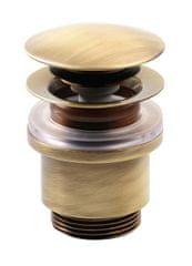 SILFRA Uzavíratelná k. výpust pro umyvadla bez přepadu Click Clack,tichá,V 25-45mm,bron (UD439S92)