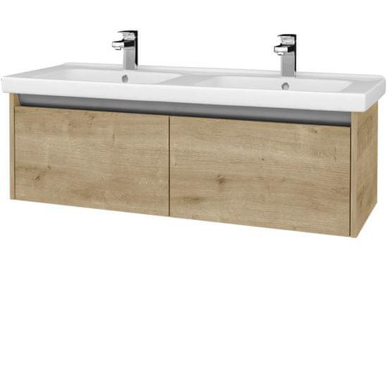 Dřevojas Koupelnová skříň BONO SZZ2 125 (umyvadlo Harmonia) - D09 Arlington / D09 Arlington (204266)