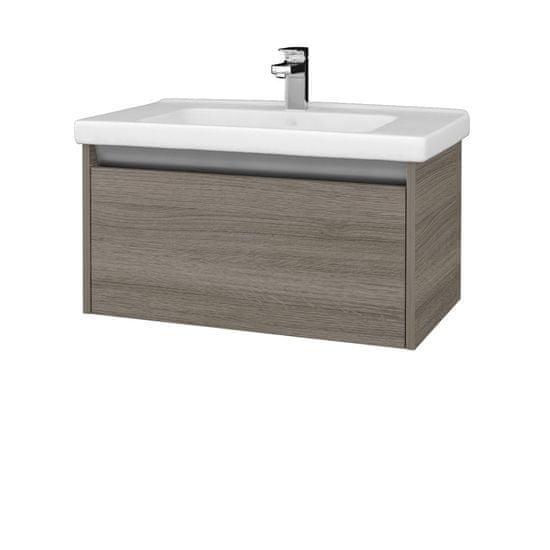 Dřevojas Koupelnová skříň BONO SZZ 80 (umyvadlo Harmonia) - D03 Cafe / D03 Cafe (204068)