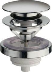 SILFRA Uzavíratelná k. výpust pro umyvadla s přepadem Click Clack,tichá,V 5-60mm,chrom (UD850S51)