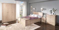 Maridex Fiona komplet ložnice - Matrace 140 x 200, Dub Sonoma
