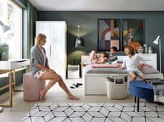BRW Moderní ložnice Pori, bílý lesk