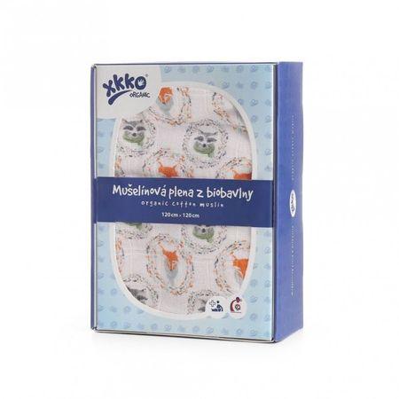XKKO Pielucha z organicznej bawełny organicznej 120x120, Lis i Szop