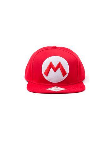 Difuzed Nintendo: Red Snapback Cap With Mario Logo kapa s šiltom