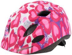 Polisport Kids Premium otroška kolesarska čelada, Hearts, 52-56