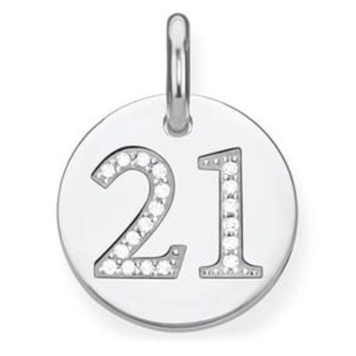"""Thomas Sabo Prívesok """"21"""" , LBPE0019-051-21, Love Bridge, 925 Sterling silver, zirconia white"""