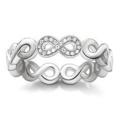 """Thomas Sabo Prsteň """"Nekonečno"""" Thomas Sabo, D_TR0003-725-14-56, Sterling Silver, 925 Sterling silver, white diamond"""