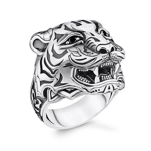 "Thomas Sabo Prsteň ""Tiger"" , TR2294-643-21-62, Sterling Silver, 925 Sterling silver, blackened, zirconia black"