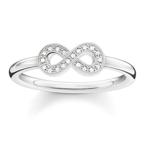 """Thomas Sabo Prsteň """"Nekonečno"""" , D_TR0001-725-14-56, Sterling Silver, 925 Sterling silver, white diamond"""
