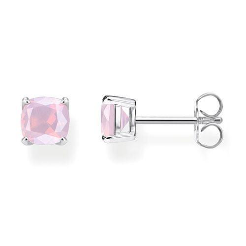 """Thomas Sabo Náušnice """"Trblietavý ružový opál"""" , H2104-699-7, Sterling Silver, 925 Sterling silver, glass-ceramic stone pink"""