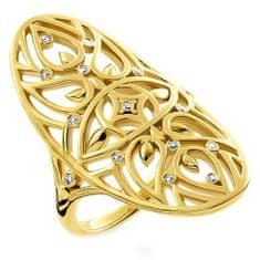 "Thomas Sabo Prsteň ""Ornament"" Thomas Sabo, D_TR0025-924-39-54, Sterling Silver, 925 Sterling silver, 18k yellow gold plating, white diamond"