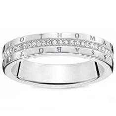 """Thomas Sabo Prsteň """"Klasický biely"""" Thomas Sabo, D_TR0026-725-14-54, Sterling Silver, 925 Sterling silver, white diamond"""