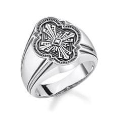 """Thomas Sabo Prsteň """"Kríž"""" Thomas Sabo, TR2244-637-21-62, Sterling Silver, 925 Sterling silver, blackened"""