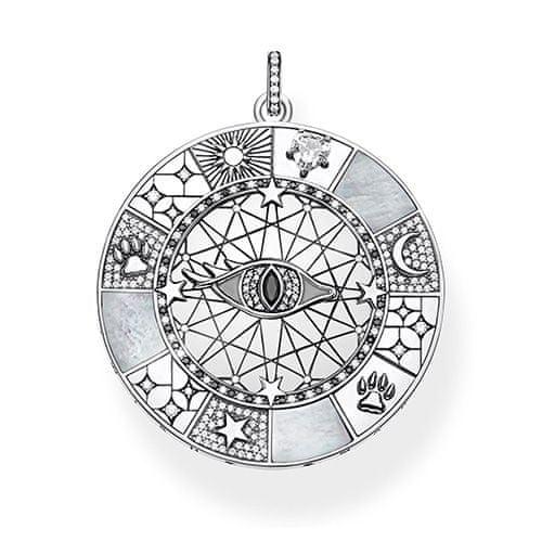 """Thomas Sabo Přívěsek """"Amulet mystické symboly"""" , PE854-642-18, Sterling Silver, 925 Sterling silver, blackened, mother-of-pearl, zirconia white/black"""
