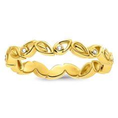 "Thomas Sabo Prsteň ""Listy"" Thomas Sabo, D_TR0024-924-39-52, Sterling Silver, 925 Sterling silver, 18k yellow gold plating, white diamond"