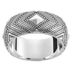 """Thomas Sabo Prsteň """"Africké ornamenty"""" Thomas Sabo, TR2127-637-21-62, Sterling Silver, 925 Sterling silver, blackened"""