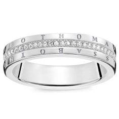 """Thomas Sabo Prsteň """"Klasický biely"""" Thomas Sabo, D_TR0026-725-14-52, Sterling Silver, 925 Sterling silver, white diamond"""