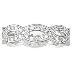 """Thomas Sabo Prsteň """"Uzol lásky"""" Thomas Sabo, TR1973-051-14-54, Sterling Silver, 925 Sterling silver, zirconia white"""