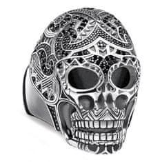 """Thomas Sabo Prsteň """"Maorská lebka"""" Thomas Sabo, TR2132-643-11-62, Sterling Silver, 925 Sterling silver, blackened, zirconia black"""