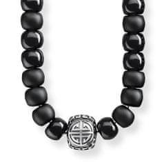 "Thomas Sabo Náhrdelník ""Etnický čierny"" Thomas Sabo, KE1710-704-11-L80, Sterling Silver, 925 Sterling silver, blackened, obsidian"