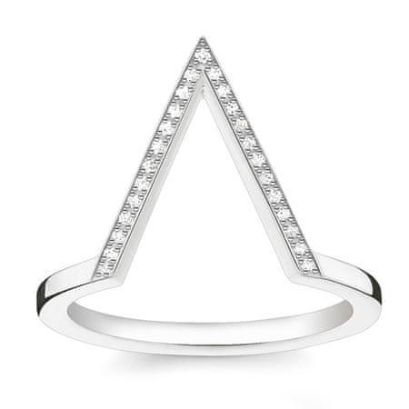 "Thomas Sabo Prstan ""Trikotnik"" , D_TR0020-725-14-56, Sterling Silver, 925 Sterling srebro, bel diamant"