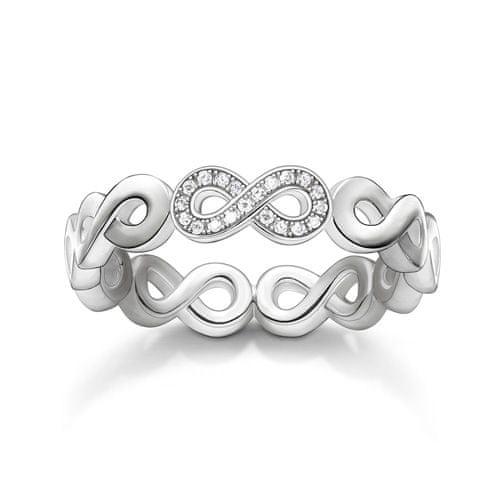 """Thomas Sabo Prsteň """"Nekonečno"""" , D_TR0003-725-14-54, Sterling Silver, 925 Sterling silver, white diamond"""