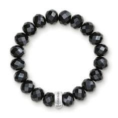 Thomas Sabo Náramok Obsidián , X0035-023-11-L, Charm Club, 925 Sterling silver, obsidian