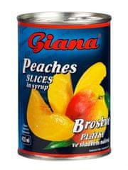 Giana Broskve plátky v mírně sladkém nálevu 12 x 425 ml