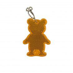 Maxpack Reflexní přívěsek bezpečnostní Medvěd oranžový